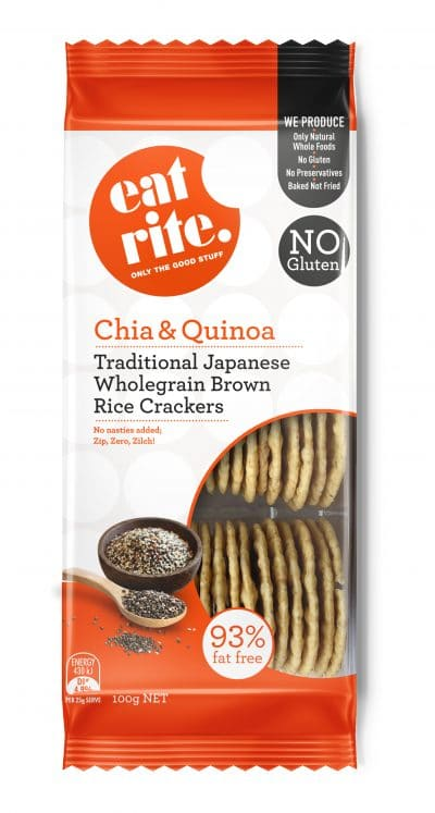 Wholegrain Brown Chia & Quinoa Crackers 100g 1